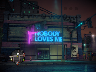Nobody Loves Me exterior in Saints Row IV