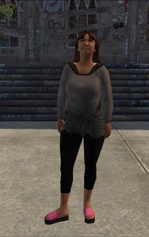 PoorTrash female - latin - character model in Saints Row