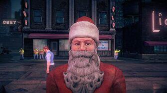 Santa - face in Saints Row IV
