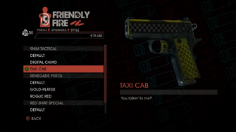 Weapon - Pistols - Quickshot Pistol - 9MM Tactical - Taxi Cab