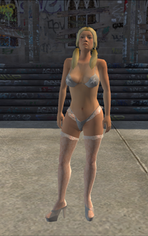 Stripper - White - Cutscene - character model in Saints Row