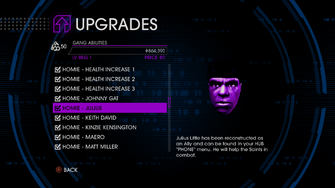 Upgrades menu in Saints Row IV - Page 3 of Gang Abilities