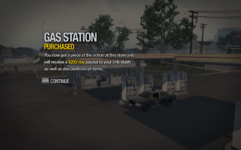Gas Station in Quinbecca purchased in Saints Row 2