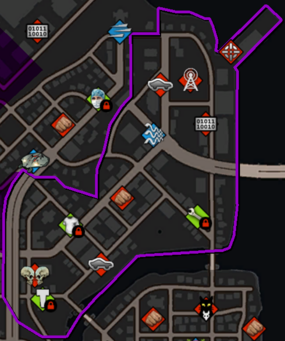 Ashwood map in Saints Row IV