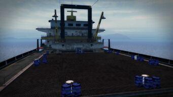 Cargo ship - deck platform