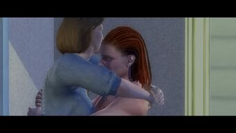File in the Cake - Absence Makes The Heart Grow Fonder cutscene - Laura and Tobias hugging