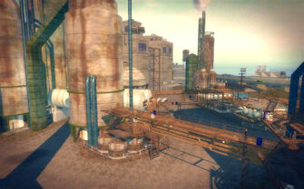 Pilsen in Saints Row 2 - refinery walkways