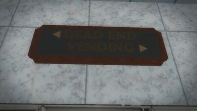 Police Headquarters - Dead end sign