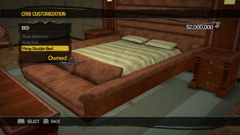 Saints Row Mega Condo - Crib Customization - Bed - Pimp Double Bed