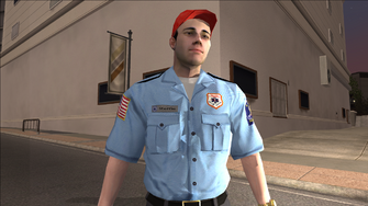 Closeup of Paramedic in Saints Row