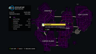 Map interface in Saints Row IV