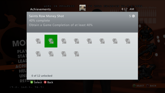Saints Row Money Shot Achievement - 40% complete