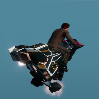 Saints Row The Third DLC vehicle - Ultor Interceptor - hover - rear angle