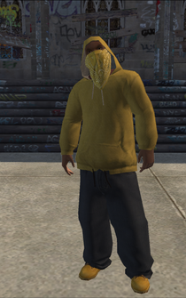 Vice Kings male THUG1-02 - Black hood - character model in Saints Row