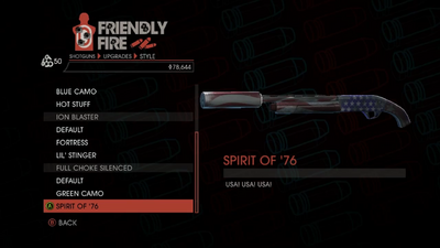 Weapon - Shotguns - Semi-Auto Shotgun - Full Choke Silenced - Spirit of '76
