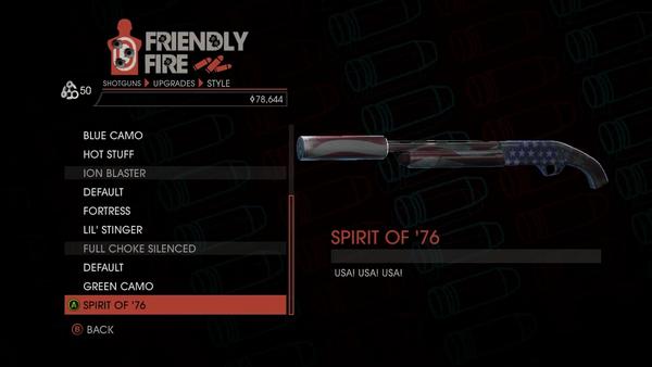 Weapon - Shotguns - Semi-Auto Shotgun - Full Choke Silenced - Spirit of '76
