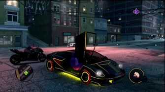 Wraith - front right with lights and door open in Saints Row The Third