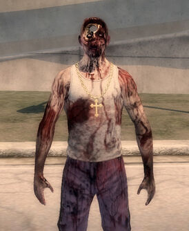 Zombie Carlos - front with hole visible