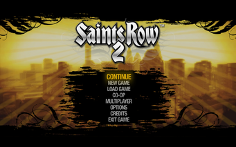 Main Menu in Saints Row 2