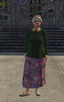 OldWoman - white - character model in Saints Row