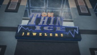 On Thin Ice in Imperial Square - sign above door