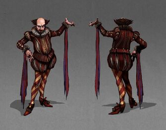 Shakespeare Concept Art - front and back