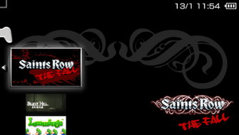 Saints Row Undercover in PSP menu