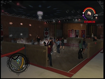 On Track dance floor in Saints Row