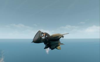Scythe in jet mode - left
