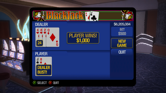 Blackjack - Dealer Bust