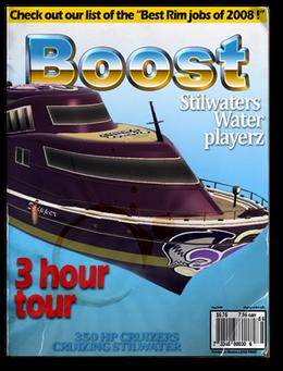 Boost-unlock racing boat