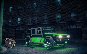 Bulldog - Luchadores variant - front right with lights in Saints Row IV