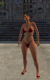 Luz - bikini - character model in Saints Row