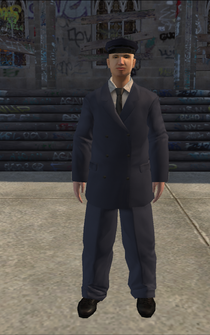 Chauffeur - white blue - character model in Saints Row