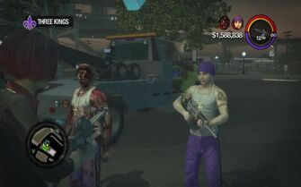 Carlos and Zombie Carlos during Newspaper Clipboard replay of Three Kings