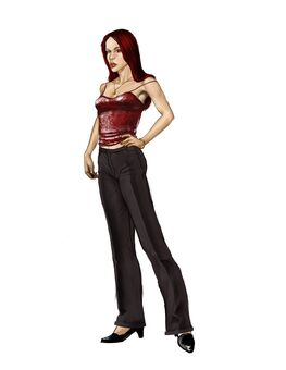 Jessica Concept Art 04 - Nearly finalized design with straight hair