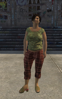 PoorHeavy female - asian - character model in Saints Row