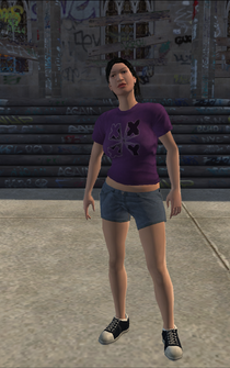 Saints female Thug-02 - asian - character model in Saints Row