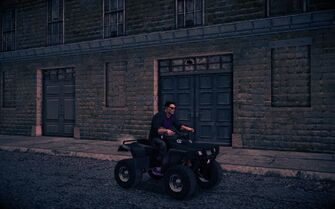 Toad - front right with rider in Saints Row IV