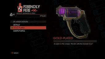 Weapon - Pistols - Alien Pistol - Z9 Handcannon - Gold-Plated