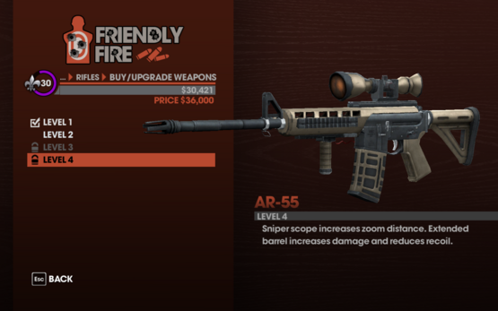 AR-55 Level 4 description