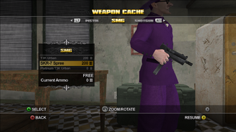 Saints Row Weapon Cache - SMG - SKR-7 Spree