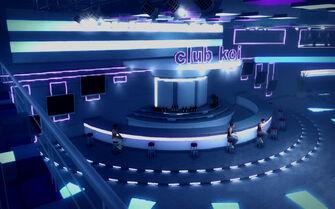 Club Koi - looking down at main bar
