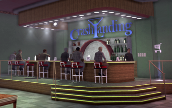 Crash Landing - bar area