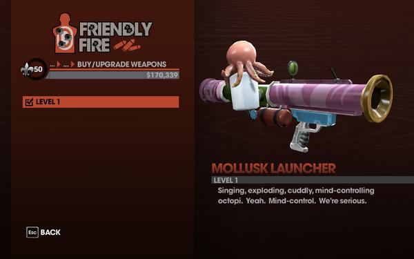 Mollusk Launcher - Level 1 description
