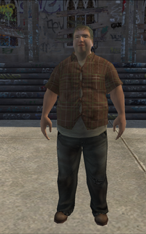 PoorHeavy male - white - character model in Saints Row