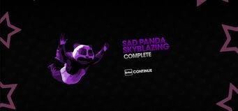 Sad Panda Skyblazing completion screen