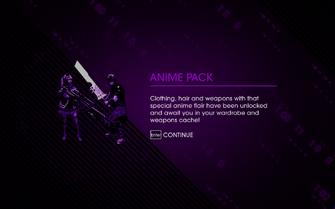 Saints Row IV DLC Unlock - Anime Pack