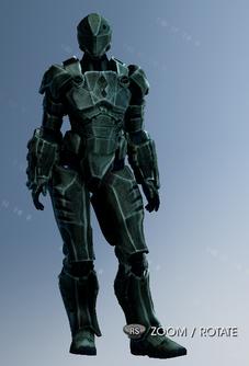 Customization Item in Saints Row IV - Suits - Iron Saint front