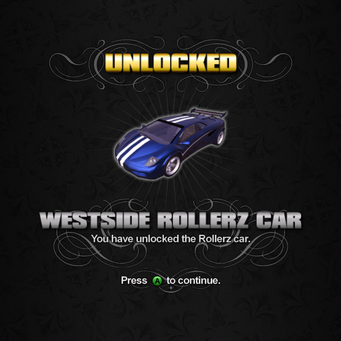 Saints Row unlockable - Vehicles - Westside Rollerz Car - Attrazione